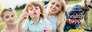 Parents with Kids Having Fun | Tumblr Banner Template