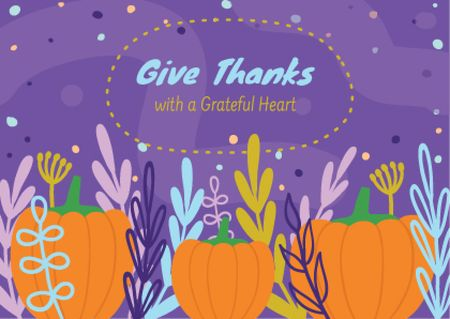 Template di design Thanksgiving feast concept Card