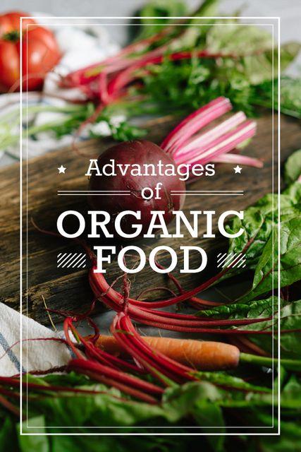 Plantilla de diseño de Healthy Food Raw Vegetables and Fruits Tumblr