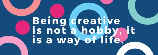 Modèle de visuel Creativity Quote on Colorful circles pattern - Tumblr