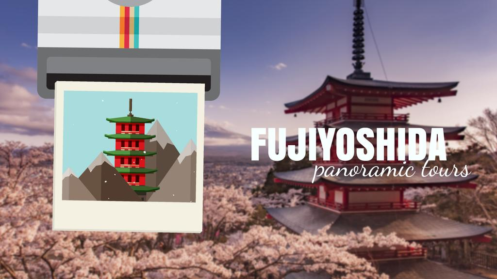 Fujiyoshida famous Travelling spots — Create a Design