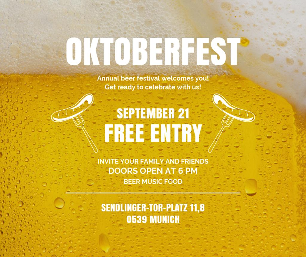 Traditional Oktoberfest treat and beer — Modelo de projeto