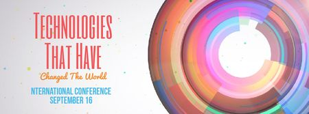 Designvorlage Bright rotating circles and spheres template für Facebook Video cover