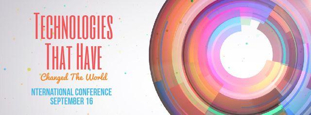 Bright rotating circles and spheres template Facebook Video cover Tasarım Şablonu