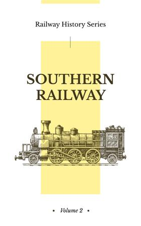 Plantilla de diseño de Railway History Old Steam Train Book Cover