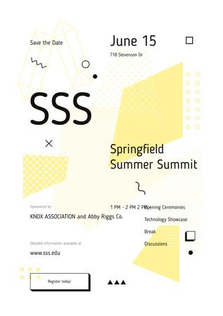 Plantilla de diseño de Minimalistic geometric pattern Poster