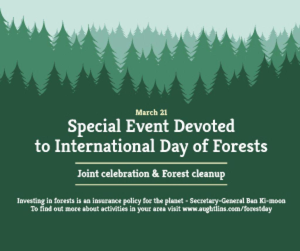 Ontwerpsjabloon van Medium Rectangle van Special Event devoted to International Day of Forests