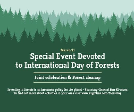 Ontwerpsjabloon van Medium Rectangle van Special Event devoted to International Day of Forests