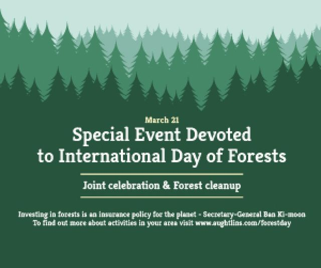 Special Event devoted to International Day of Forests Medium Rectangle Design Template