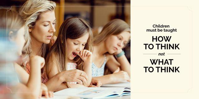 Children creative thinking poster Imageデザインテンプレート