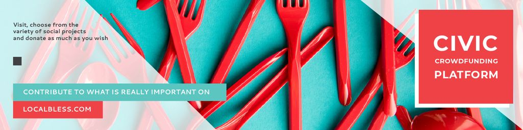 Crowdfunding Platform with Red Plastic Tableware – Stwórz projekt