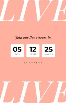 Blogger live stream countdown
