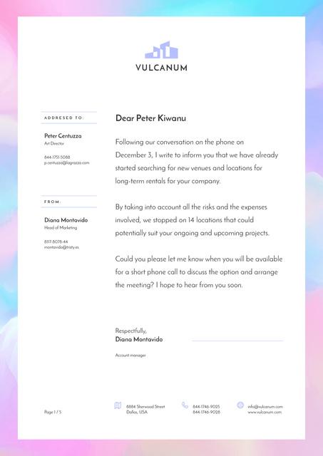 Modèle de visuel Real Estate company official response - Letterhead