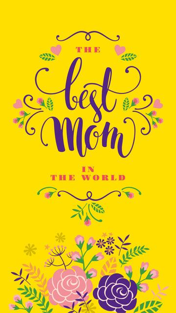 Mother's Day Greeting with Tender spring flowers Instagram Story Modelo de Design