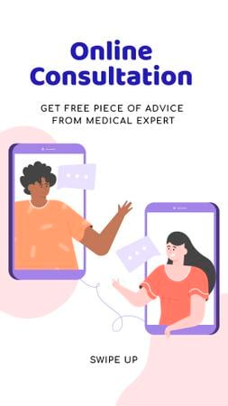 Plantilla de diseño de Online Medical Support Instagram Story