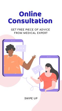 Online Medical Support Instagram Story Modelo de Design
