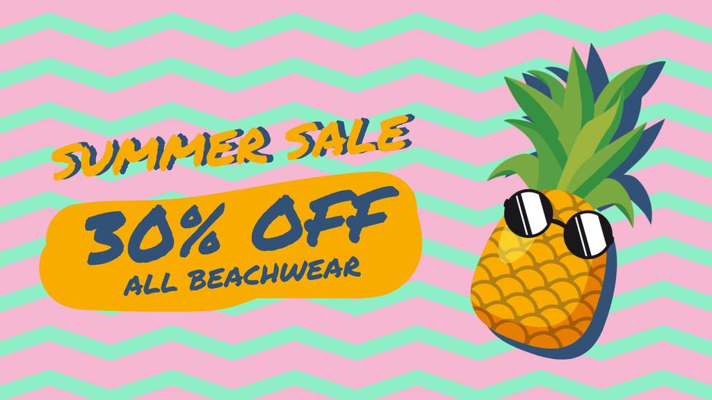 Cartoon pineapple in sunglasses — Crear un diseño