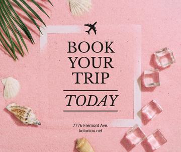 Travel Tour Ad Shells on Sand