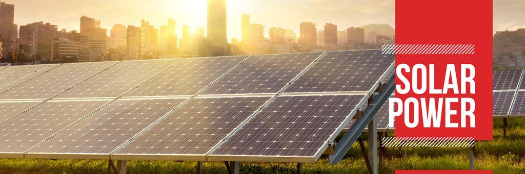 solar power poster Twitterデザインテンプレート