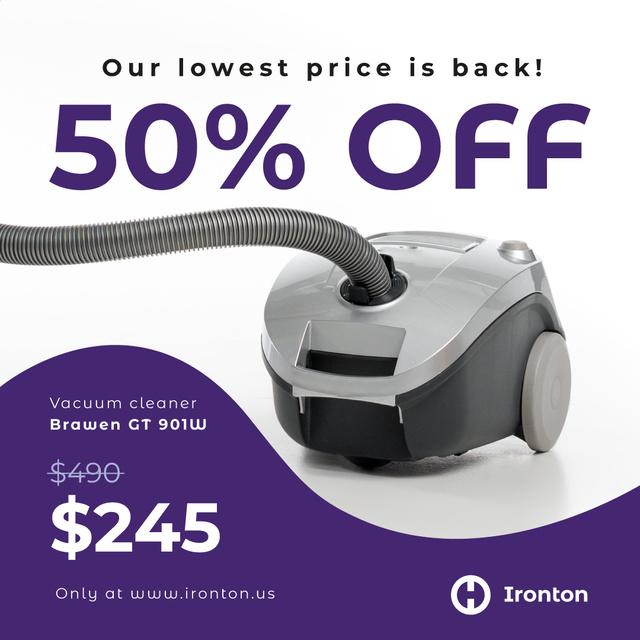 Plantilla de diseño de Appliances Sale Vacuum Cleaner Instagram