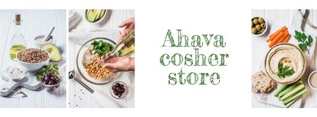 Hummus Fresh Cooking Ingredients Facebook cover Modelo de Design