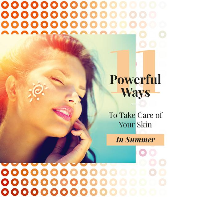 Template di design Woman with sunscreen on face Instagram