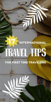 International travel tips poster