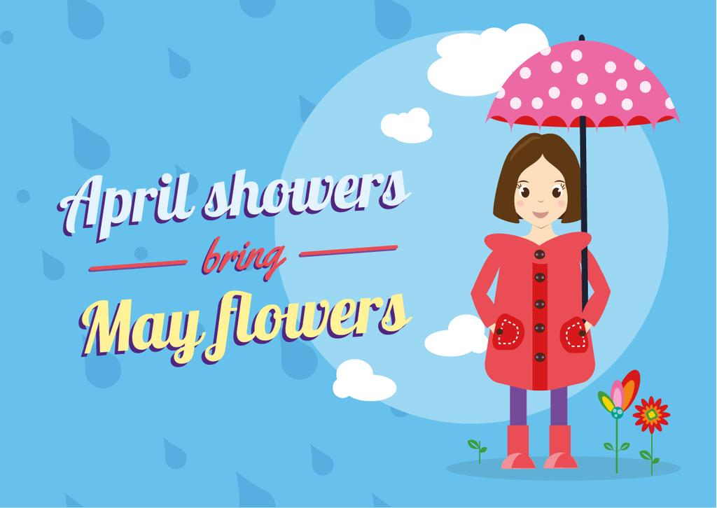 Girl holding umbrella — Crear un diseño
