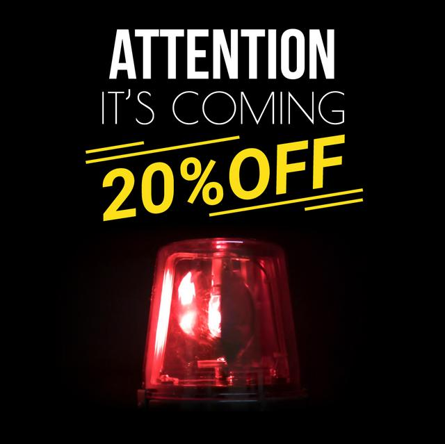 Special Sale with Red blinking flasher Animated Post Design Template