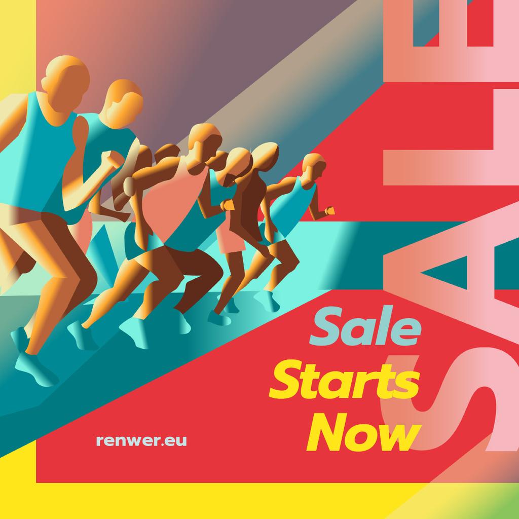 Runners at start position — ein Design erstellen