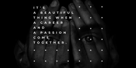 Citation about career and a passion  Image Modelo de Design