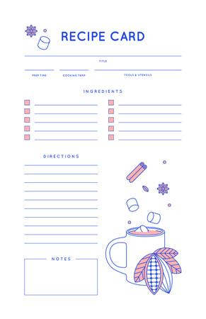 Falling Spices to Cup Recipe Card Modelo de Design