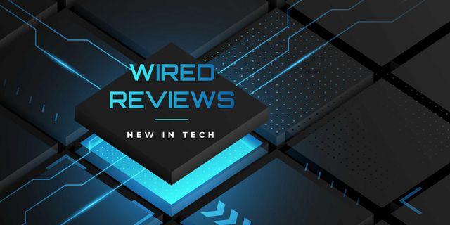 Tech Reviews on chip Twitter Modelo de Design