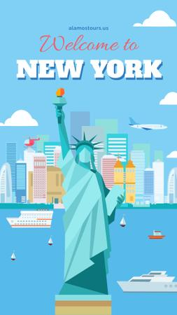 Ontwerpsjabloon van Instagram Story van New York city Travel Offer
