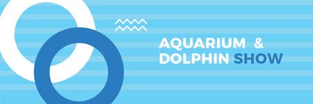 Ontwerpsjabloon van Twitter van Aquarium & Dolphin show
