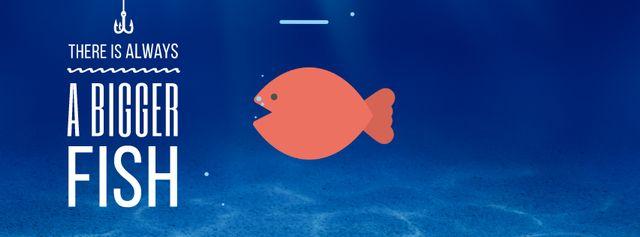 Bigger Fish Concept Facebook Video coverデザインテンプレート