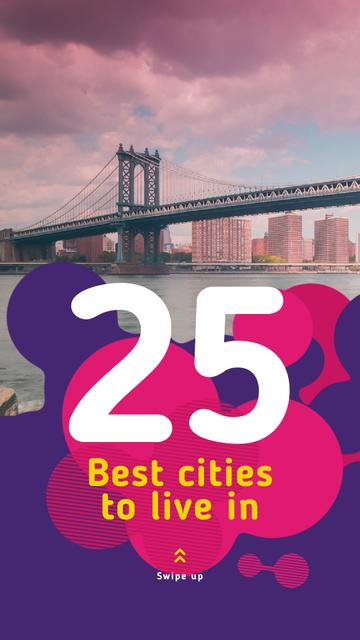 Szablon projektu New York City Bridge View Instagram Video Story