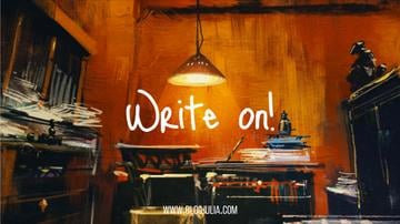 Writers workplace in mess