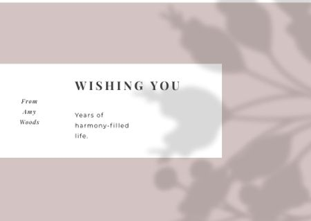 Template di design Wedding Greeting on floral pattern Card