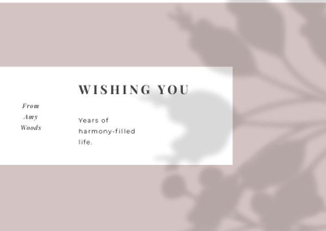 Ontwerpsjabloon van Card van Wedding Greeting on floral pattern