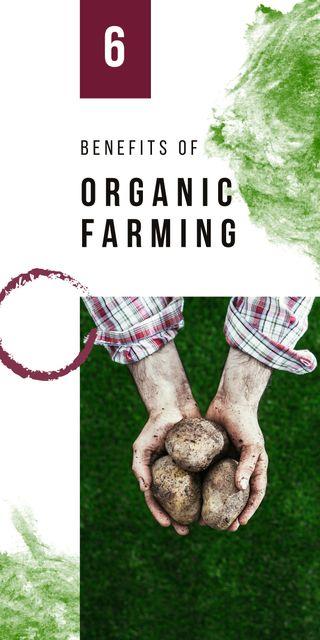 Designvorlage Farmer harvesting vegetables für Graphic