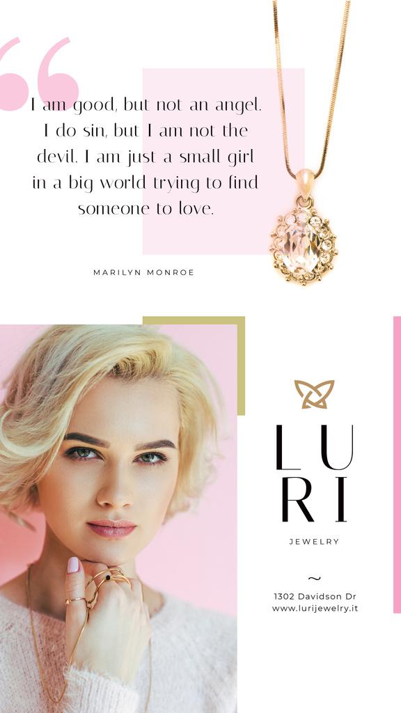 Jewelry Sale Woman in Golden Rings — Создать дизайн