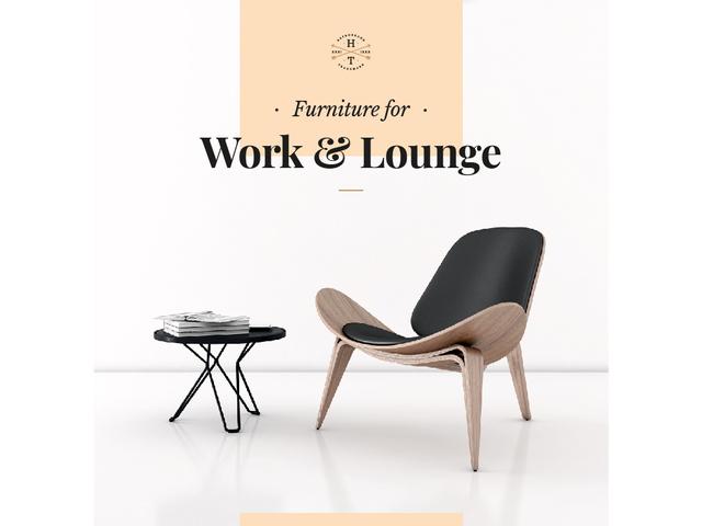 Furniture for Work and Lounge Modern Designer Chair Presentation Design Template
