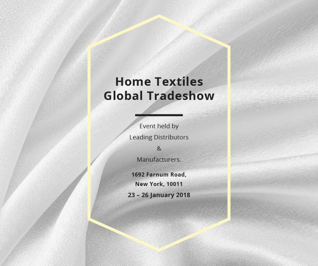 Home Textiles event announcement White Silk — Создать дизайн