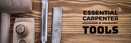 Essential carpenter tools Offer Email header Design Template