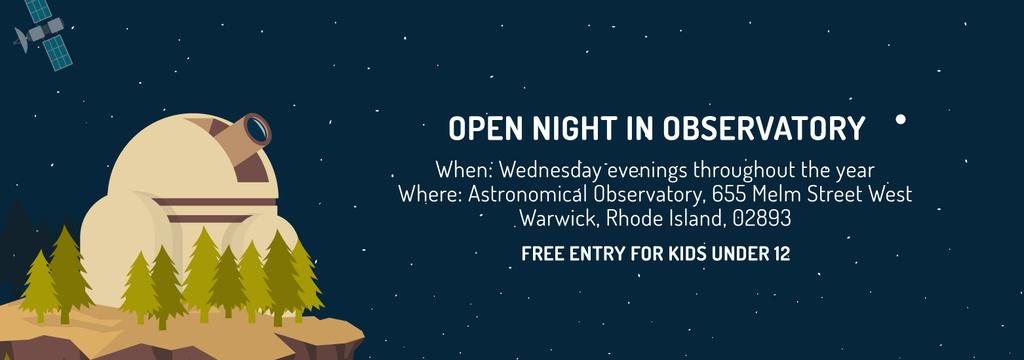 Open night in Observatory event — Maak een ontwerp