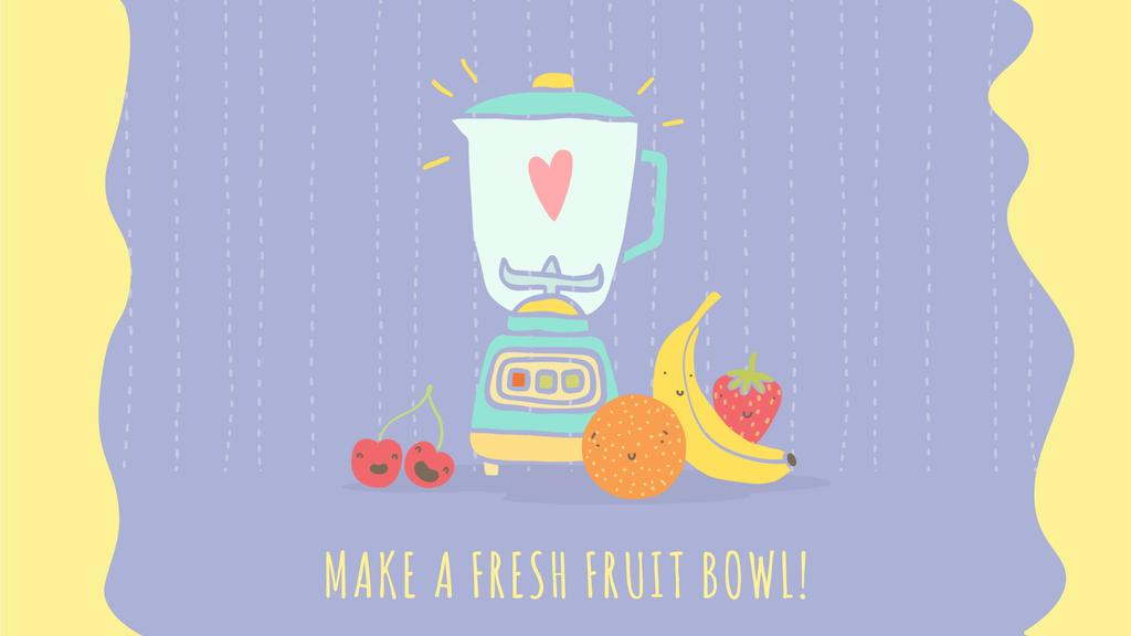 Healthy Food Raw Fruits by Kitchen Blender — Maak een ontwerp