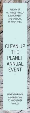 Clean up the Planet Annual event Skyscraperデザインテンプレート
