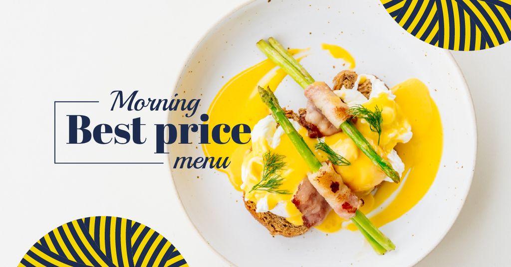 Eggs Benedict dish with asparagus — ein Design erstellen