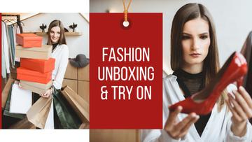 Fashion Boxing Woman Holding Heeled Shoe | Youtube Thumbnail Template